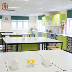 College laboratory with bespoke furniture