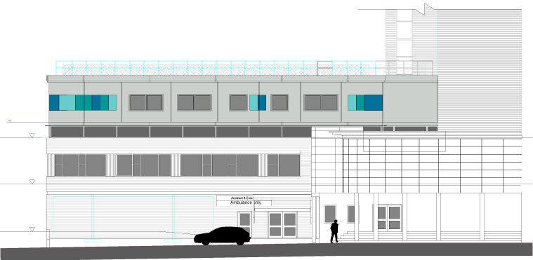 Modular hospital buildings uk healthcare construction plan elevation of modular hospital ward malvernweather Gallery