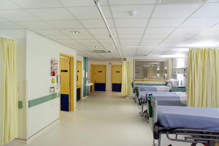 Open plan hospital ward