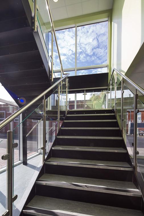 Modular construction steel staircase design