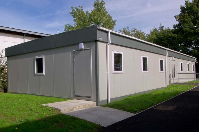 Refurbished used modular building