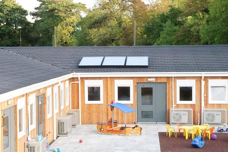 Timber modular nursery exterior